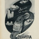 1953 Helvetia Watch Company Switzerland Vintage 1953 Swiss Ad Suisse Advert Horology Horlogerie