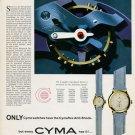 Cyma Watch Company Switzerland Cymaflax 1953 Swiss Ad Suisse Advert