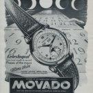 1951 Movado Watch Company Movado Celestograf Advert 1951 Swiss Ad Suisse Advert
