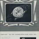 Cortebert Watch Company Vintage 1951 Swiss Ad Corte-Date Suisse Advert Horlogerie