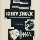 1953 Seitz Ruby Shock Company Switzerland 1953 Swiss Ad Suisse Advert Horology