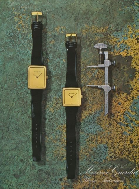 Maurice Guerdat Watch Company Switzerland Vintage 1976 Swiss Ad Suisse Advert Horlogerie Horology