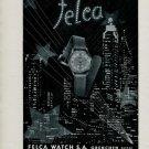 Felca Watch Company Switzerland Vintage 1947 Swiss Ad Suisse Advert Horlogerie
