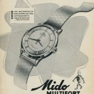 1953 Mido Watch Company Bienne Switzerland Vintage 1953 Swiss Ad Suisse Advert Horology