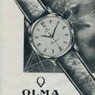 1962 Olma Watch Company Switzerland Numa Jeannin S.A. 1962 Swiss Ad Suisse Advert