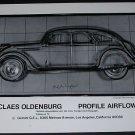 Claes Oldenburg Profile Airflow Vintage 1970 Art Ad