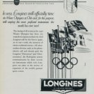 Longines Watch Company 1952 Winter Olympics at Oslo 1951 Swiss Ad Suisse Advert