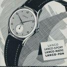 1951 Lanco Watch Company Langendorf Watch Company Vintage 1951 Swiss Ad Suisse Advert