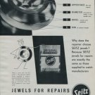 1951 Seitz Bergeon & Cie Company Vintage 1951 Swiss Ad Suisse Advert Horology Switzerland
