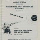 F. Witschi Company Switzerland 1951 Swiss Ad Horlogerie Horology Suisse Advert