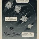 1953 Paul Buhre Watch Company Le Locle Switzerland Vintage 1953 Swiss Ad Suisse Advert