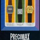 1977 Precimax Watch Company Neuchatel Switzerland Vintage 1977 Swiss Ad Suisse Advert