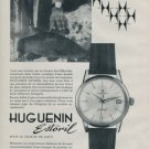 1962 Huguenin Watch Company Estoril Vintage 1962 Swiss Ad Suisse Advert Horlogerie
