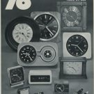 1976 Kienzle Clock Company Germany Vintage 1976 Swiss Ad Suisse Advert Horlogerie