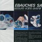 Ebauches S.A. Assure Votre Avenir 1977 Swiss Magazine Article Horology Horlogerie Suisse