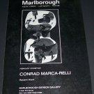 Conrad Marca-Relli Vintage 1970 Art Exhibition Ad Advert Marlborough-Gerson Gallery, NY