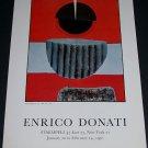 1970 Enrico Donati Vintage 1970 Art Exhibition Ad Staempfli NY Advert
