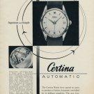 Certina Watch Company Grenchen Switzerland 1953 Swiss Ad Suisse Advert