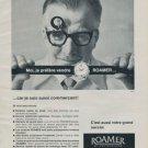 1962 Roamer Watch Company Switzerland Vintage 1962 Swiss Ad Suisse Advert Horlogerie