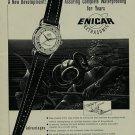 1956 Enicar Watch Company Switzerland Enicar Seapearl Vintage 1956 Swiss Ad Suisse Advert