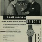 1956 Hy Moser & Cie Watch Company Saltofix Vintage 1956 Swiss Ad Suisse Advert