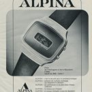 Alpina Watch Company Switzerland Vintage 1976 Swiss Ad Suisse Advert Horology