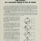 1956 The Effect of a Balance Which Is Out of Poise by H. Jendritzki 1956 Swiss Magazine Article