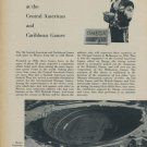 1954 Omega Watch Company Omega at Central American and Caribbean Games 1954 Swiss Ad Suisse Advert
