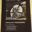 Arnaldo Pomodoro Original 1970 Art Exhibition Ad