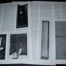 1968 Walter De Maria Singular Experience by David Bourdon 1968 Art Magazine Article