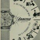 Exactus Watch Company Vintage 1956 Swiss Ad Neuchatel Switzerland Suisse Advert