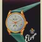 Eloga Watch Company Switzerland Vintage 1949 Swiss Ad Suisse Advert Horology