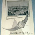 1951 Montilier Watch Company Switzerland Vintage 1951 Swiss Ad Suisse Advert Horology