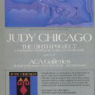 1985 Judy Chicago The Birth Project 1985 Art Exhibition Ad Advert ACA Galleries, NY