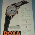 1955 Doxa Watch Company Vintage 1955 Swiss Ad Suisse Advert Le Locle Switzerland Horlogerie
