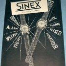 1955 Sinex Watch Company Geneva Switzerland Vintage 1955 Swiss Ad Suisse Advert