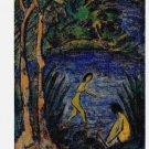 Otto Mueller Sitzende Badende Mit Zwei Baumen Art Ad Advert Advertisement