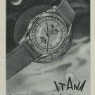1949 Itana Watch Company Geneva Switzerland Vintage 1949 Swiss Ad Suisse Advert