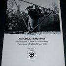 Alexander Liberman Vintage 1970 Retrospective Art Exhibition Ad Corcoran Gallery, Washington