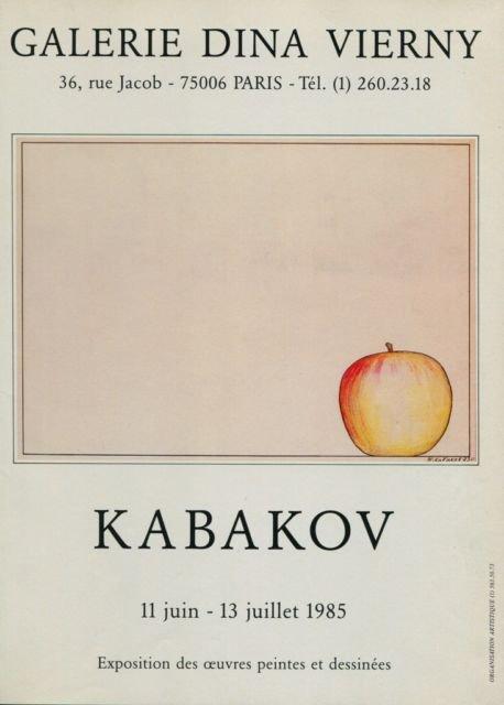 Kabakov 1985 Paris Art Exhibition Ad Galerie Dina Vierny, Paris