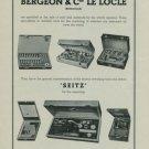 Bergeon & Cie Le Locle Vintage 1949 Swiss Ad Suisse Advert Switzerland Horology