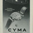Cyma Watch Company Vintage 1949 Swiss Ad Switzerland Suisse Advert Horlogerie