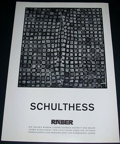 1968 Joerg Schulthess Vintage 1968 Art Exhibition Ad Galerie Raeber