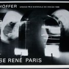 1968 Schoffer Schoeffer Vintage 1968 Art Exhibition Ad Advert Denise Rene, Paris