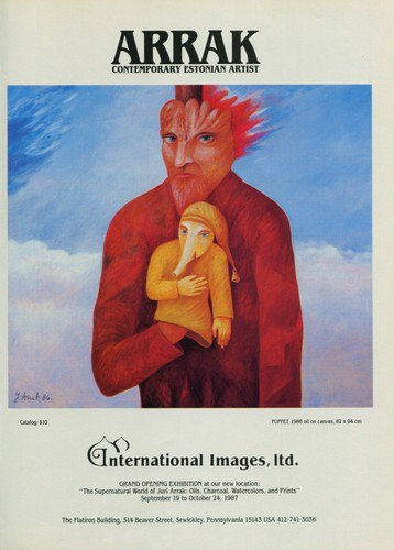 Juri Arrak 1987 Art Exhibition Ad Advertisement International Images Gallery, Sewickley, PA