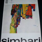 1968 Nicola Simbari Vintage 1968 Art Ad Advertisement Galleria 88 Roma
