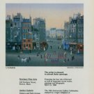 Michel Delacroix L'Aubade 1986 Art Exhibition Ad Advertisement