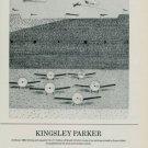Kingsley ParkerAir Show Vintage 1986 Art Ad Advertisement