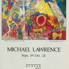 Michael Lawrence 1987 Art Exhibition Ad Advert Wenger Gallery