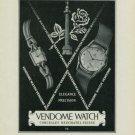 1949 Vendome Watch Company Neuchatel Switzerland Vintage 1949 Swiss Ad Suisse Advert